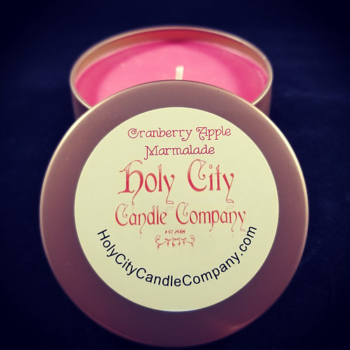 Cranberry Apple Marmalade gloss copper small tin with removable lid