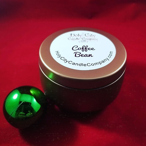 Coffee Bean 8 oz. Copper tin with removable lid