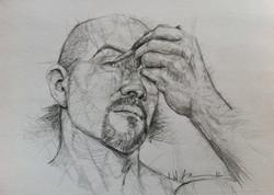 Outline Portrait of the Artist (Self Portrait)