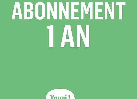Abonnement 1 an (4 numéros)