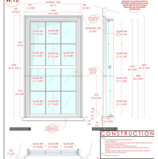 UBP - 204A - Courtyard - Sash Windows 01