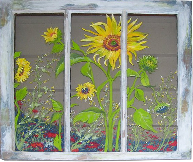 Window_sunflowers