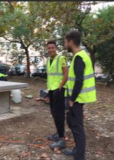 """CONSTRUCTION """"TABLE ET REPOS"""" au parc Corot"""