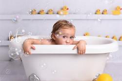 bath time photo session