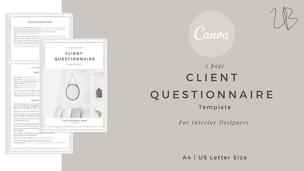 Client Questionnaire Canva template