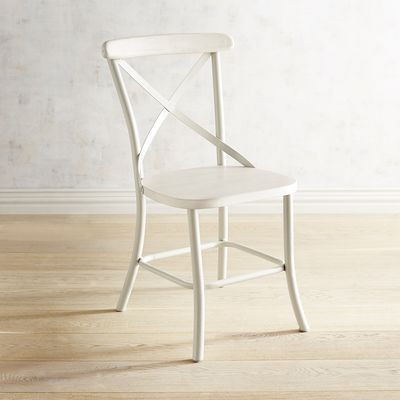 Tegan White X-Back Chair