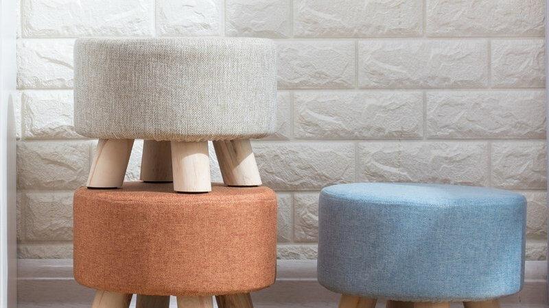 Nordic Round Fabric Stool