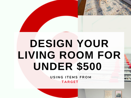 Shop The Look| Boho Living Room | Emily's Apartment | Target Shopping | Under $500