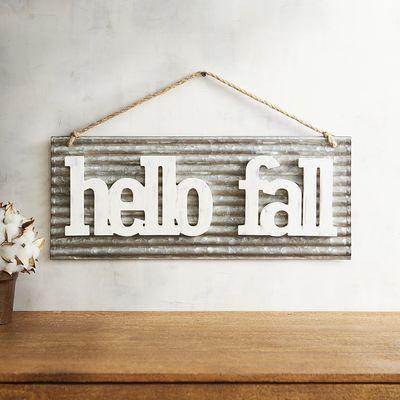 Hello Fall Wall Decor