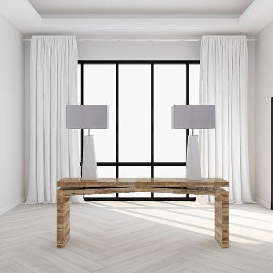 Modern Console Table and Lamps