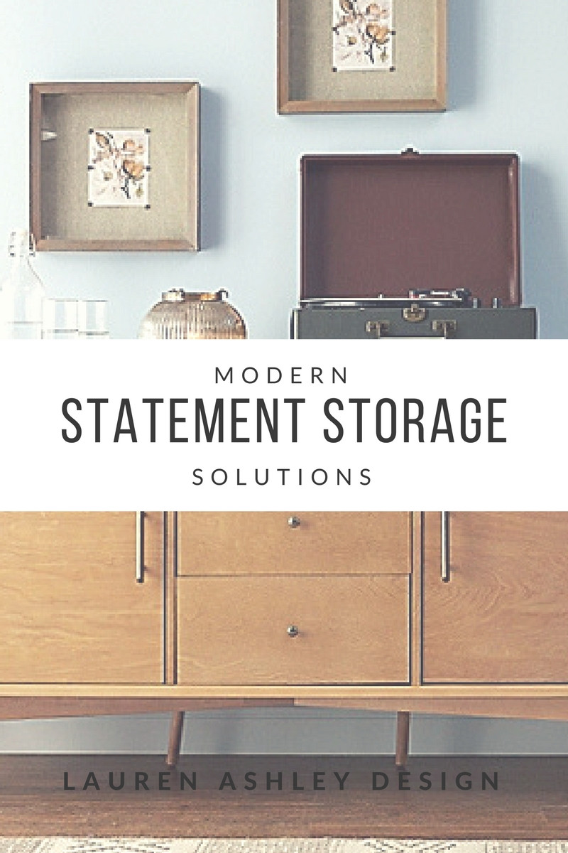 Modern Statement Storage Solutions | Picture via Bed Bath & Beyound