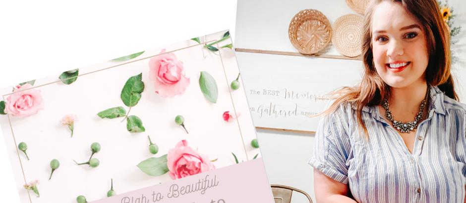 Book Review : Blah To Beautiful by Rachel Beeman  | Lauren Ashley Design