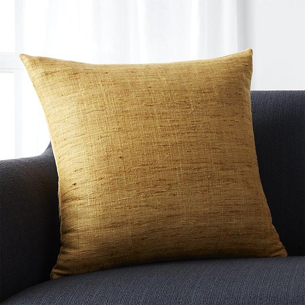 """Trevino Sunflower Yellow 20"""" Pillow"""