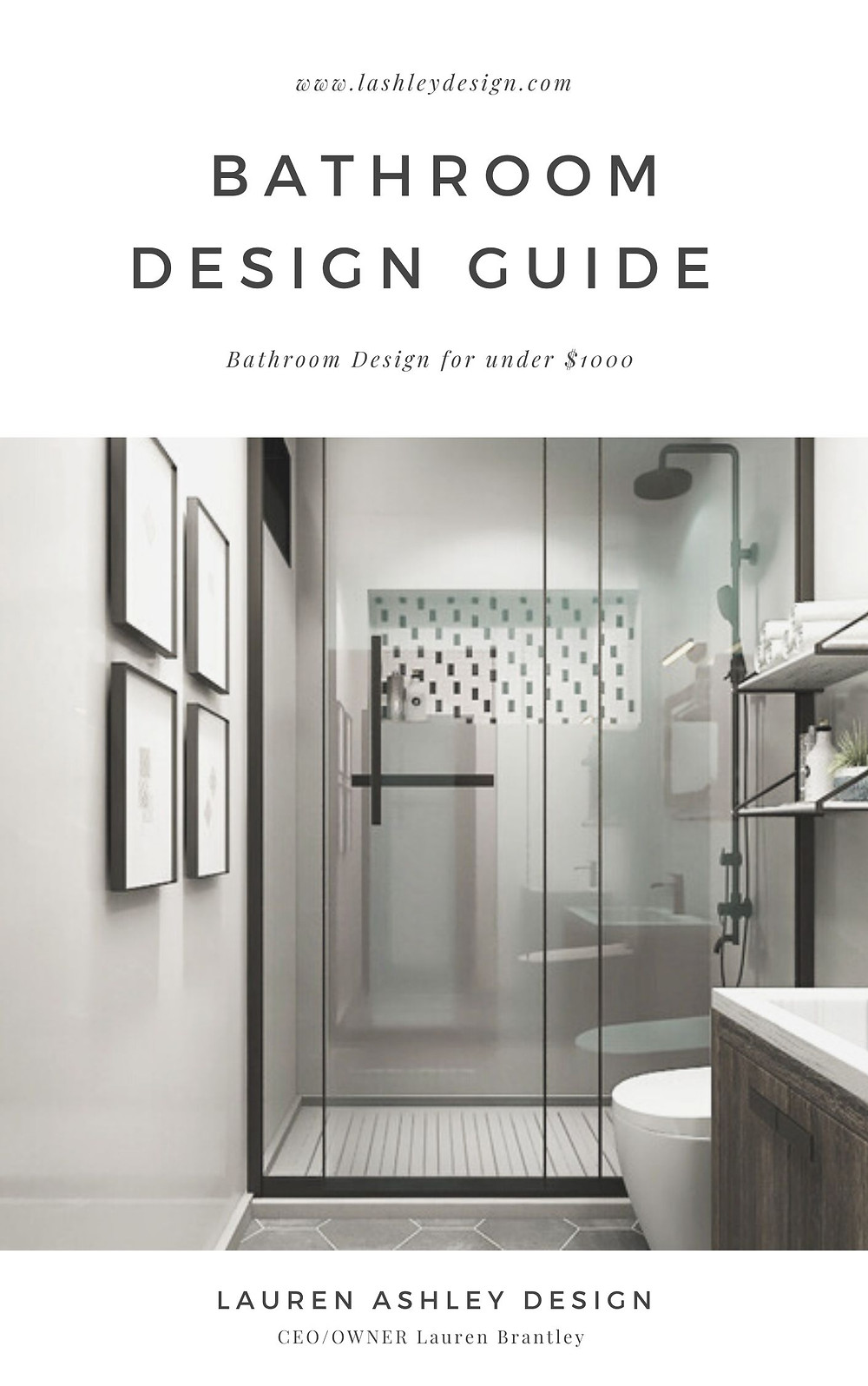 In the guide I teach you how to teach you how to apply the wallpaper and tile, also I provide you with a shopping list and guide! Bring to you all you need to transform your space into your dream modern bathroom. Grab it now!   If you need any help with your bathroom please contact me today