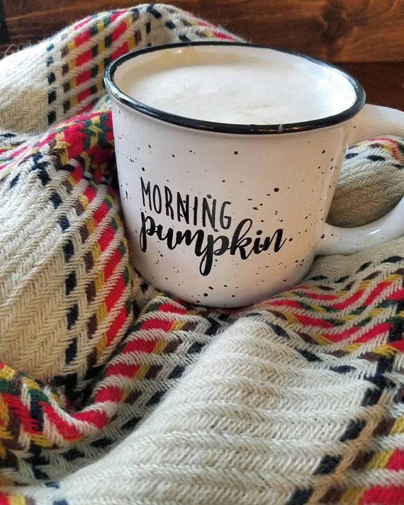 Black Morning Pumpkin Coffee Mug