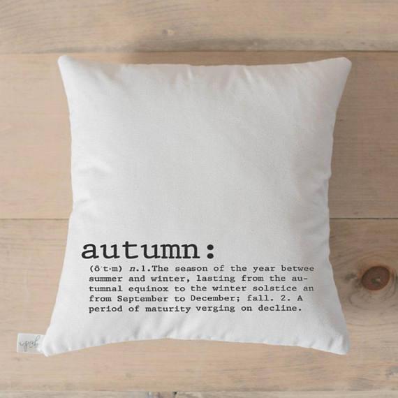 Throw Pillow - Autumn Definition