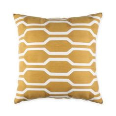 Joann 18-Inch Square Throw Pillow in Yellow