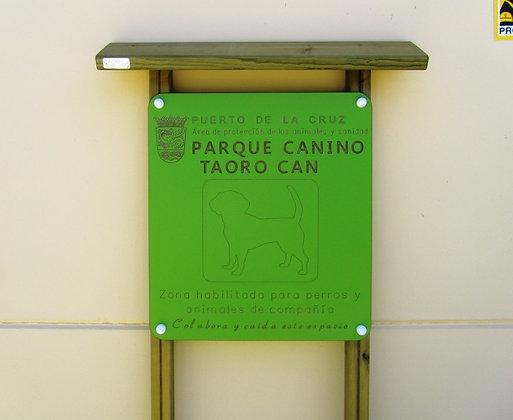 CARTEL ÁREA CANINA - Ref. CP010