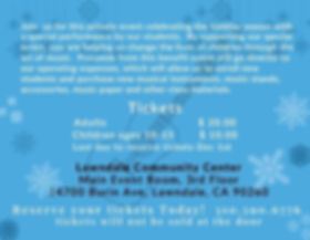 Winter Recital Info