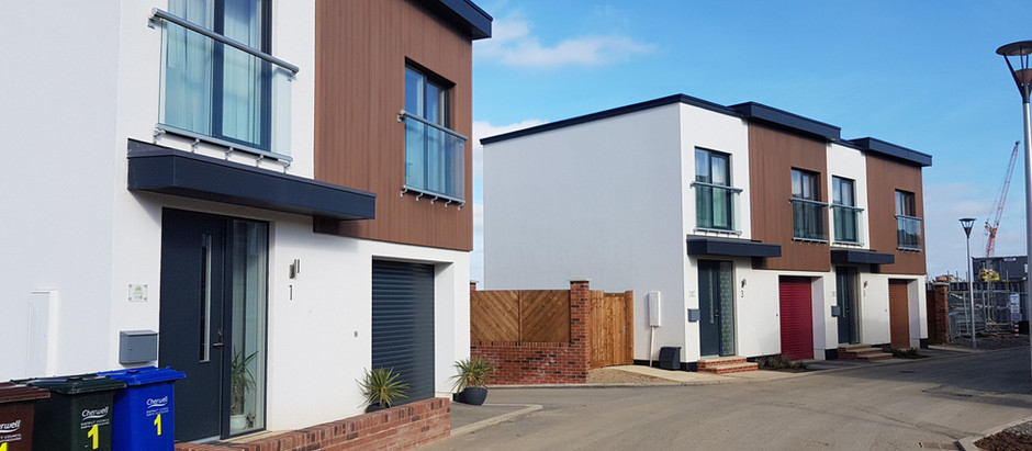 The first phase of Passivhaus's finished at Gravenhill