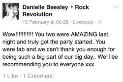 Rock Revolution. North West Wedding