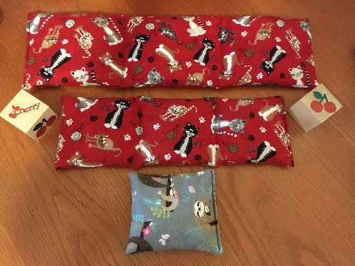 2 Cherry Pit Heating/Cooling Pack Bags and a small boo-boo bag (Free Shipping)