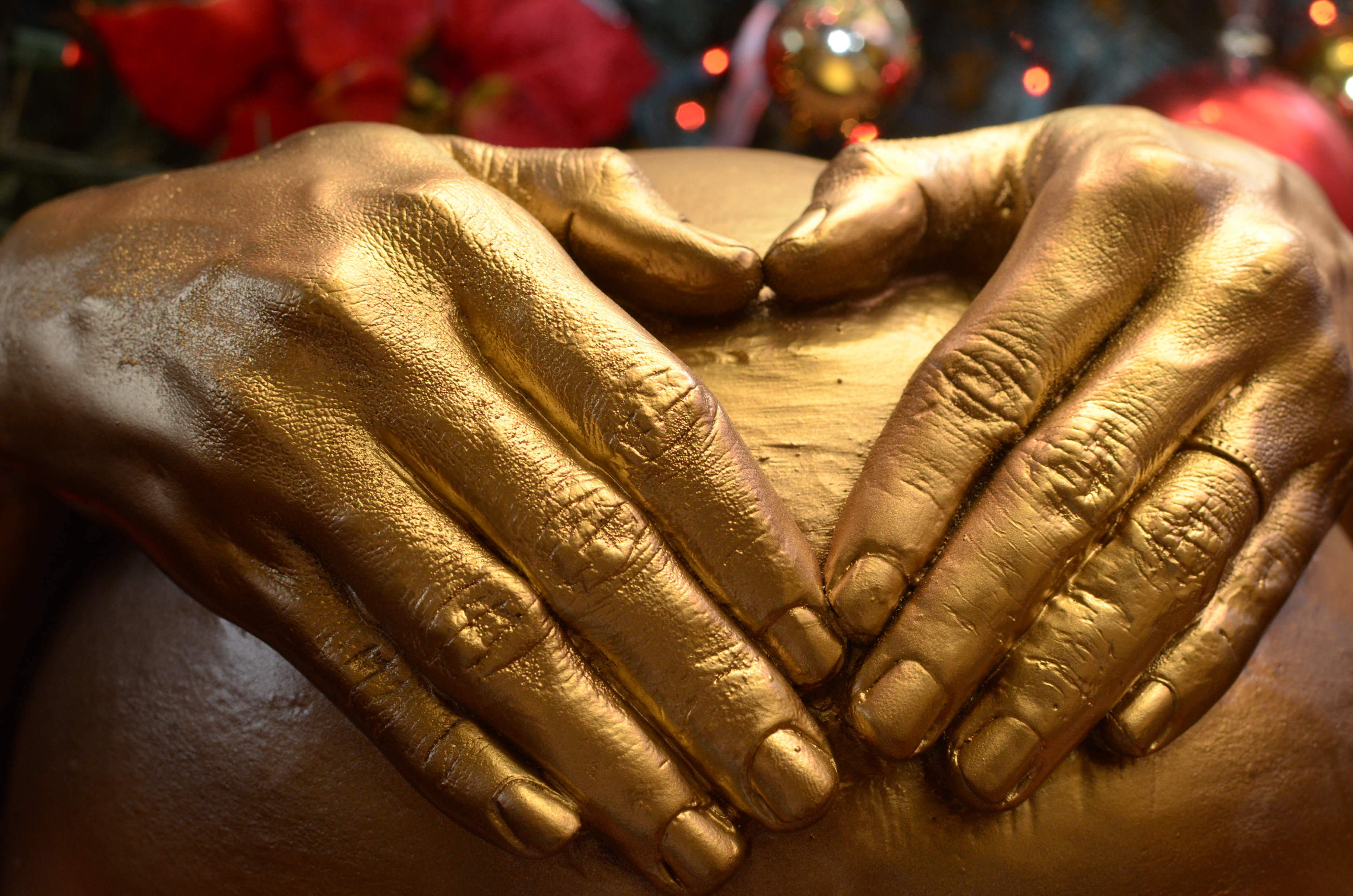 Close up of hands.