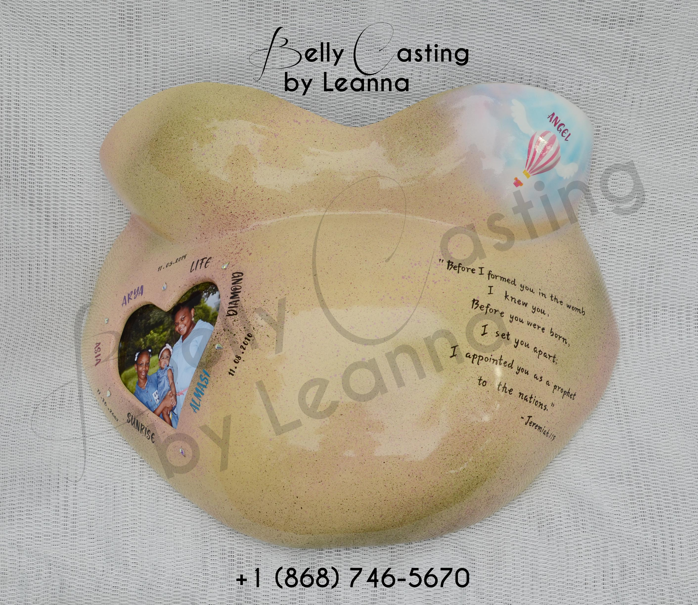 Nkechi's belly cast