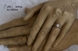Details on couple hand casting