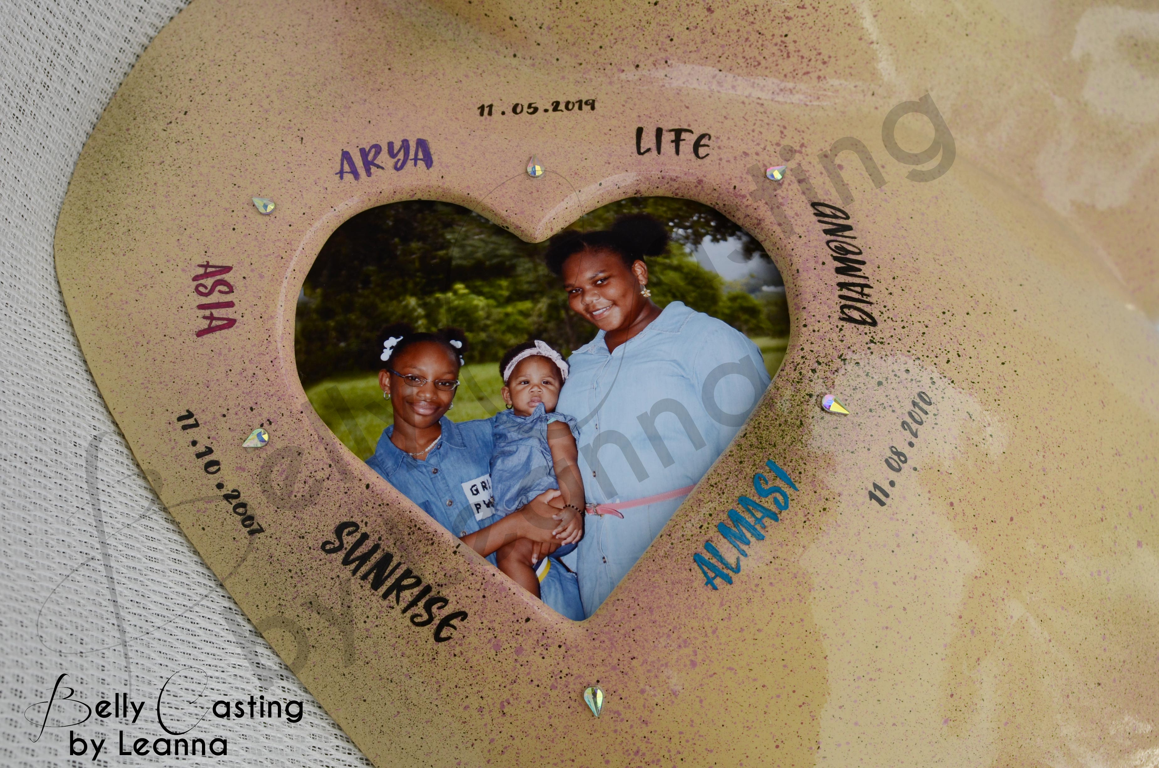 Heart cut out seen on Nkechi's belly cas