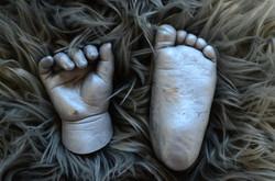 Little hands and feet.
