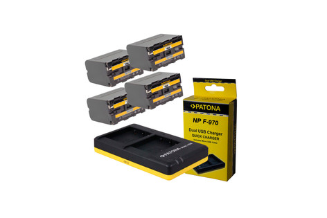 4 baterías Sony NP-F970 20€