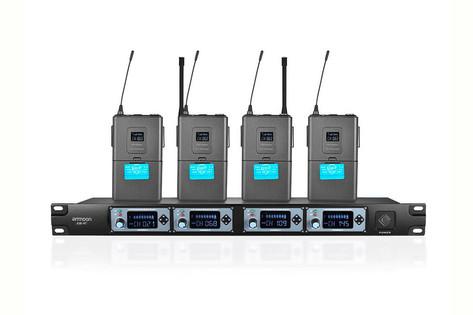 Sistema inalámbrico Aamon de 4 micrófonos de diadema 30€
