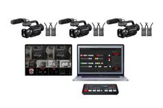 "Apple MacBook Pro 16"" 3 cámaras PX70 3 Hollyland Mars 400 + Atem mini pro + Pantalla 15"""