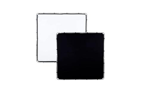 Lastolite Skylite - Tela, 2 x 2 m, Blanco/Negro con dos pies 30€