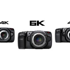 2 Blackmagic Pocket Cinema Camera 4K y 1 Blackmagic Pocket Cinema Camera 6K 120€  al día