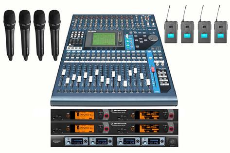 Mesa yamaha 01V96 con micrófonos 250€