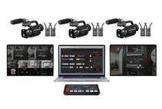 "Apple MacBook Pro 16"" 3 cámaras PX70 3 Hollyland Mars 400 + Atem mini pro + 2 Pantallas 15"""