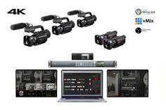 "Apple MacBook Pro 16"" 3 cámaras PX70 + 2 cámaras ax700 + cableado necesario + Atem production studio 4k + grabador Blackmagic HyperDeck Studio Mini 4k+ 2 Pantallas 15"""