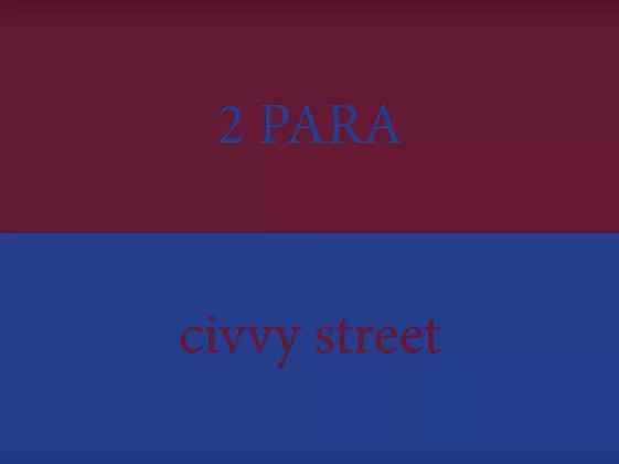 2 Para civvy street