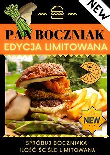 Niebieski i Żółty Burger Zdjęcie Ogłosze