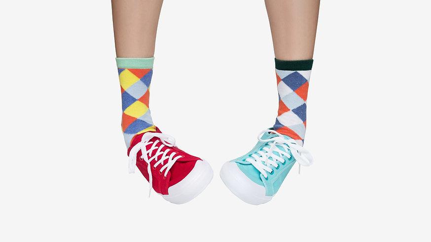 Roligt mönstrat Socks