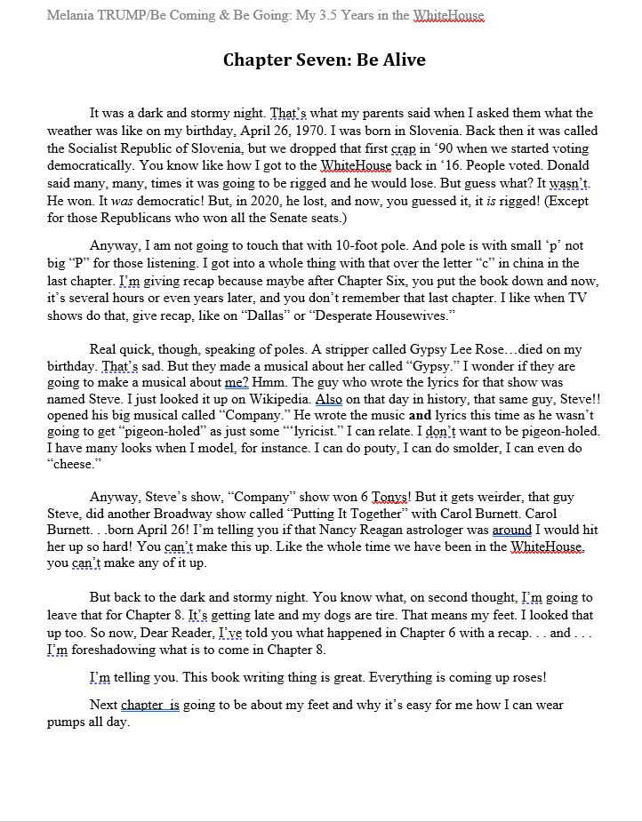 Chapter 7 Melanias Memoir by Rosemary Wa