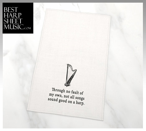 Through No Fault of My Own-Funny Tea Towel