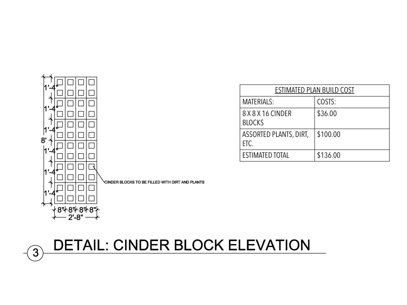 Cinder Block Elevation