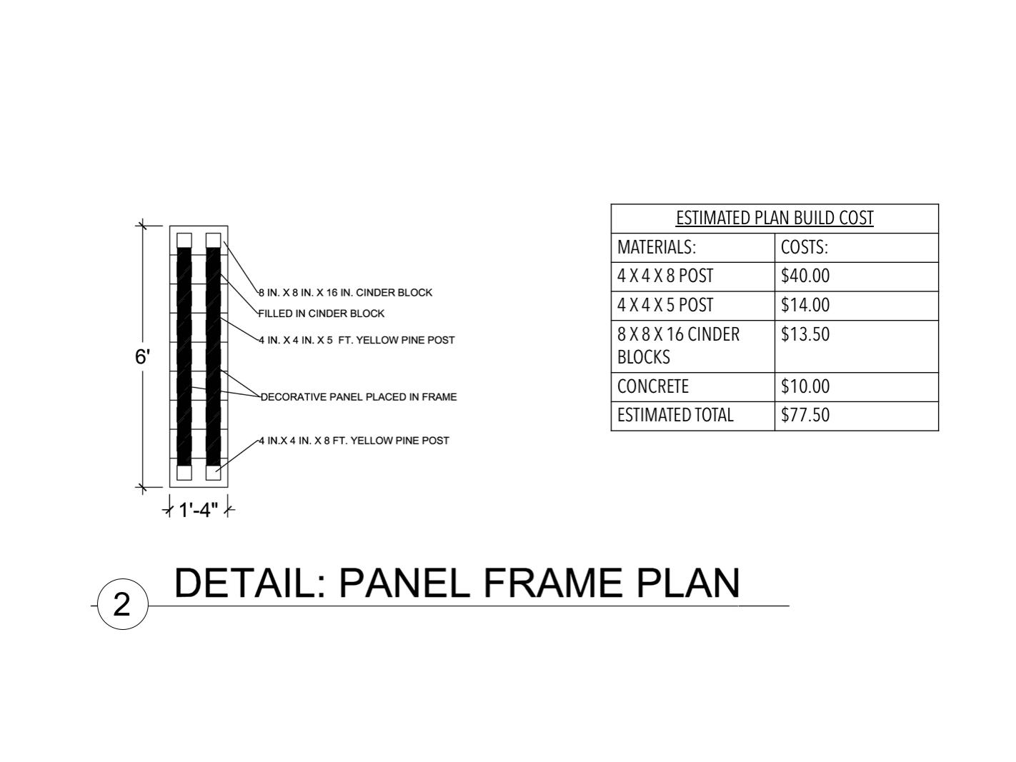 Panel Frame Plan