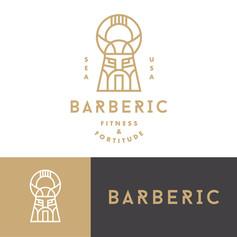 Barbarian-Logo-Branding-Geometric-Helmet
