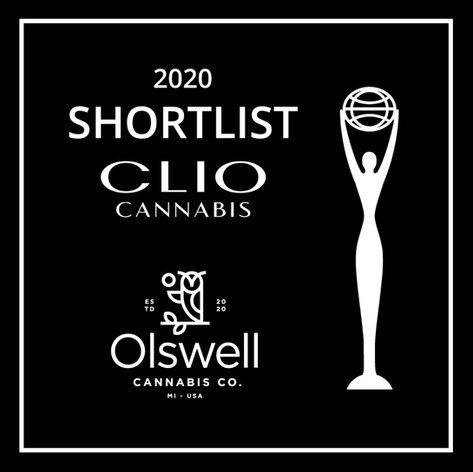 Clio Cannabis Award - Olswell Cannabis Co.