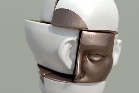 Escultura rosto