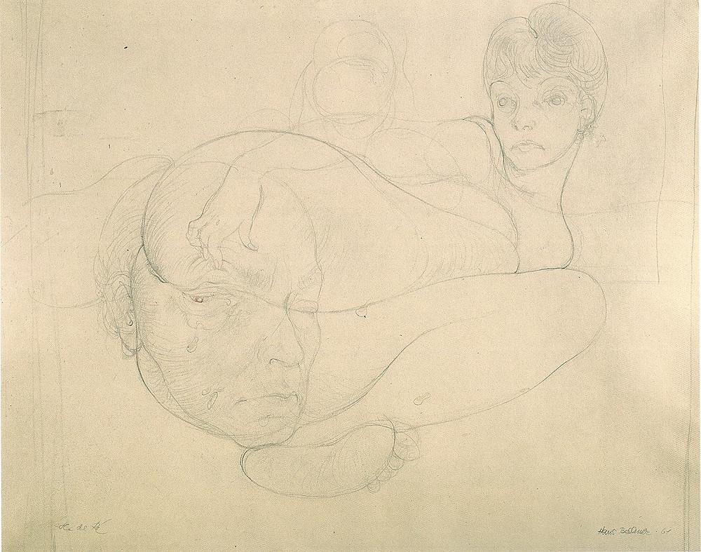 Bellmer - Autoportrait avec Unica, 1961